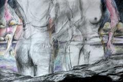 crabbe-2015-bord-de-mer-110x70-fusain-et-aquarelle-sur-papier